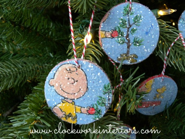 Peanuts Charlie Brown Ornaments featured at the Vintage Inspiration Party at KnickofTime.net