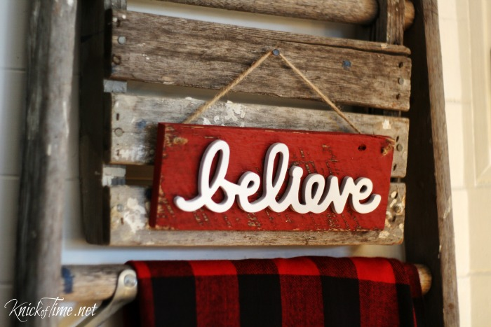 Rustic Believe in Christmas sign - Knick of Time