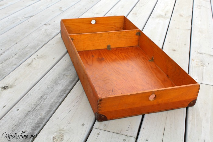 antique trunk tray compartment - KnickofTime.net