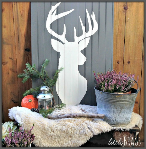 DIY deer head art - featured at KnickofTime.net