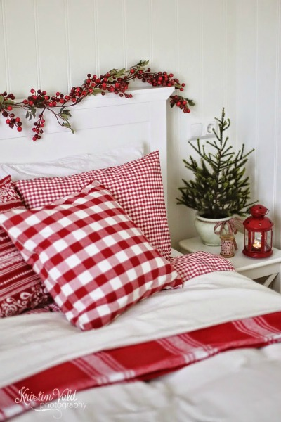 gingham bedding
