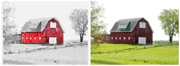 red barn photo printables - KnickofTime.net