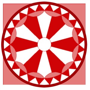 red quilt block ornament 3 - KnickofTime