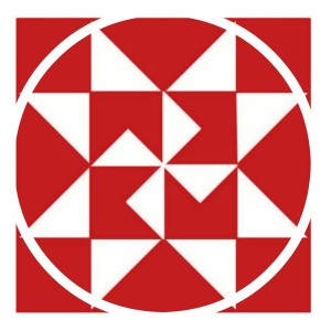 red quilt block design for Christmas ornaments - KnickofTime.net