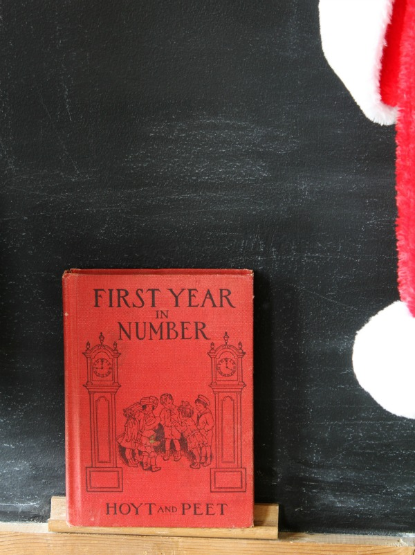 red vintage school book