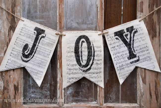 sheet music Christmas banner