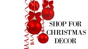 shop for Christmas decor