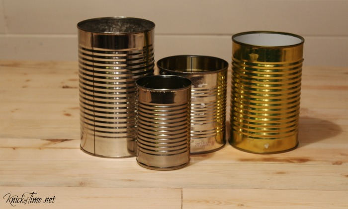 tin cans to repurposed or upcycle