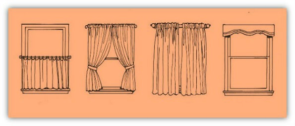 types of window curtains