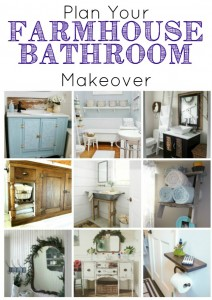 Farmhouse Bathrooms and DIY projects to help you plan your own bathroom remodel - KnickofTime.net