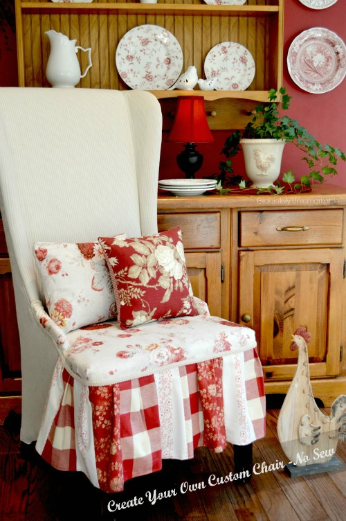 Easy Custom Upholstered Chair - featured at KnickofTime.net - Talk of the Town Link Party