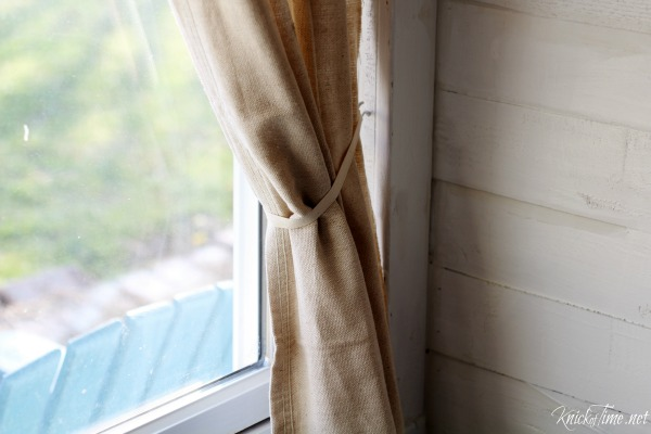 Drop Cloth Curtains for My Entryway: No-Sew Version - Knick of Time