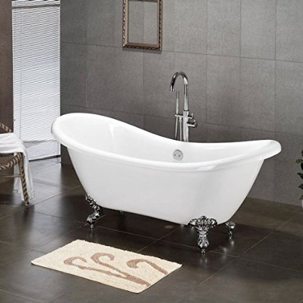 slipper tub clawfoot tub for farmhouse bathroom