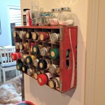Coke Crate Repurposed into a Spice Rack