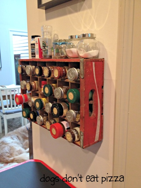 Coke Crate Repurposed Into A Spice Rack Knick Of Time