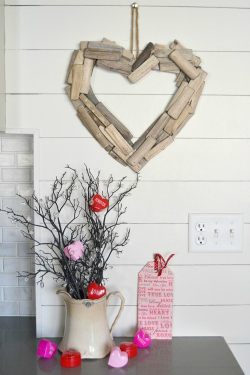 driftwood heart valentine projects