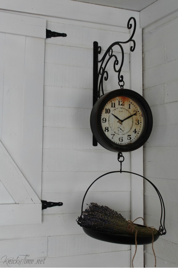 Vintage style hanging scale clock - KnickofTime.net