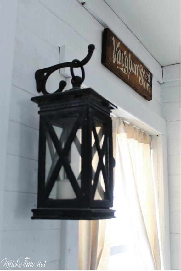 Cast iron lanterns in farmhouse entryway - KnickofTime.net