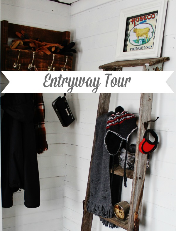 Farmhouse entryway remodel with pallet wood walls and farmhouse charm - KnickofTime.net
