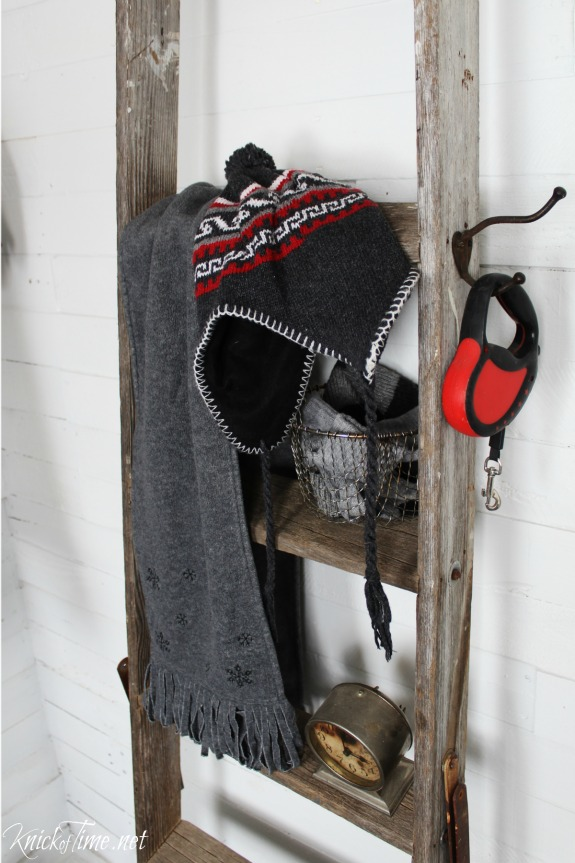 old ladder rungs for winter gear - KnickofTime.net
