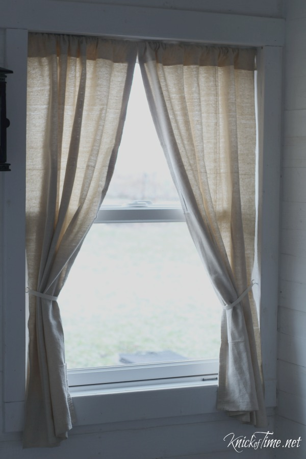 Drop Cloth Curtains For My Entryway No Sew Version Knick Of Time