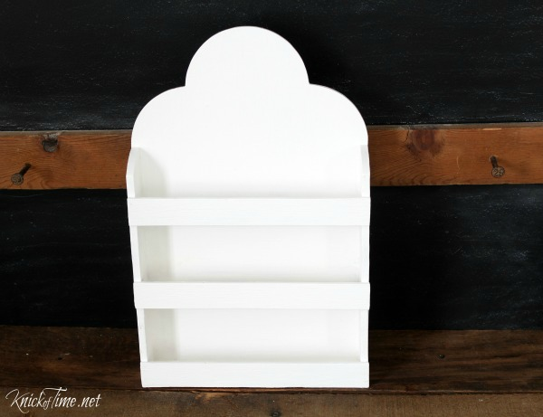 white painted spice rack - KnickofTime.net