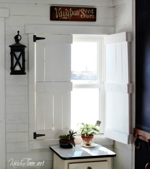 DIY Farmhouse Wooden Shutters