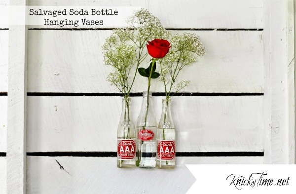 recycled repurposed bottles flower vases - KnickofTime.net