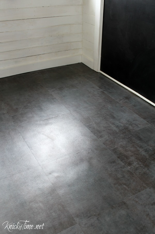 the song that never ends - installing vinyl flooring over concrete - KnickofTime.net