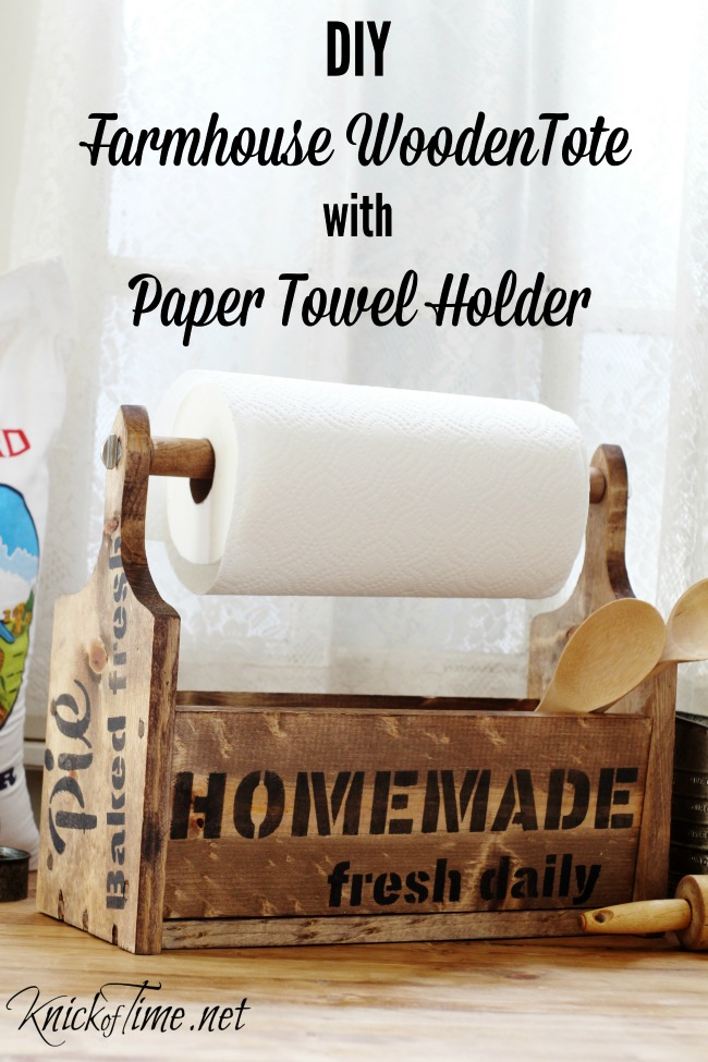 Build A Wooden Tote With Built In Paper Towel Holder