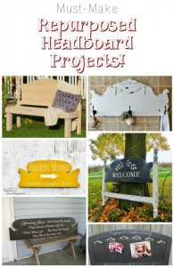 How to repurpose headboards into DIY decor and furniture for your home - Farmhouse Friday series at www.knickoftime.net