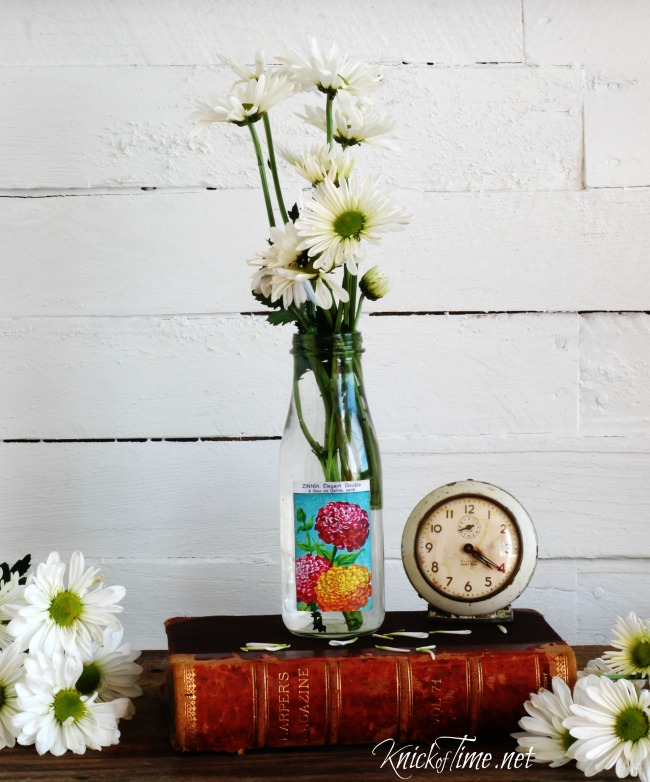 DIY seed packet bottle - KnickofTime