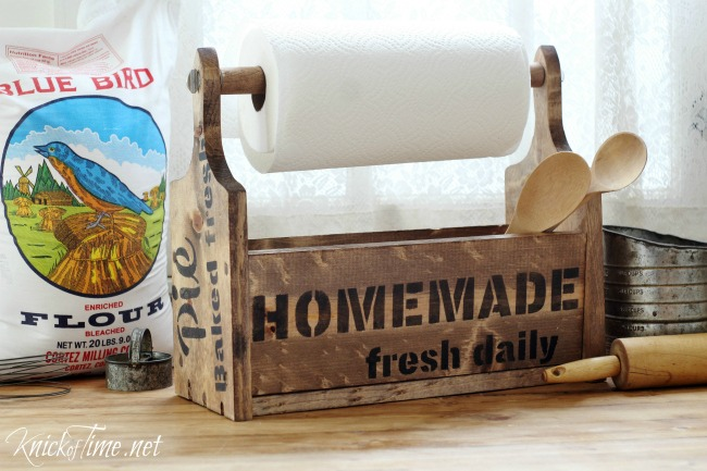 Farmhouse DIY Bread Board Wooden Tote - Knick of Time