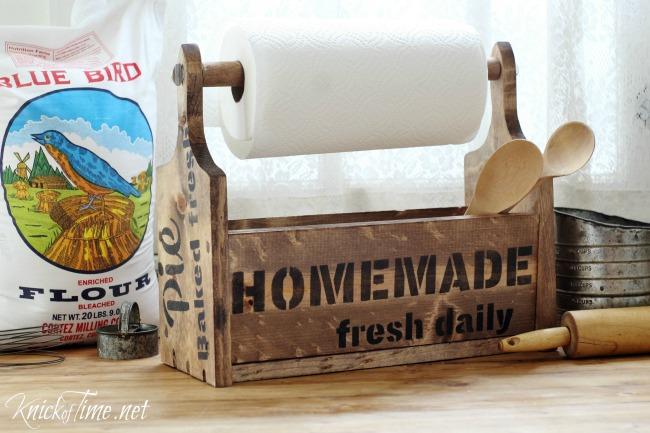 Farmhouse DIY Bread Board Wooden Tote - Knick of Time