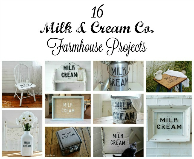 Milk and Cream Company inspired farmhouse DIY projects - KnickofTime.net