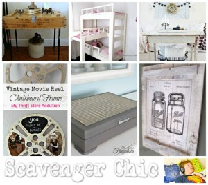 Repurposed, Upcycled and Scavenged Decor features at Talk of the Town - KnickofTime.net