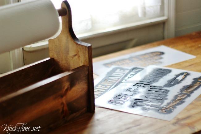 How to build and stencil a wooden tote - KnickofTime.net