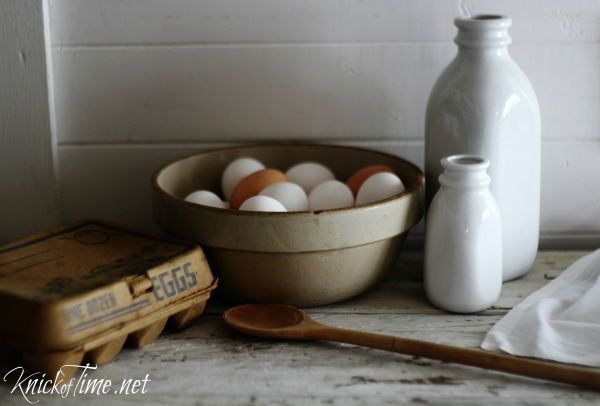 white farmhouse ceramic milk bottles with lids for your farmouse kitchen! - available from Knick of Time at KnickofTime.net