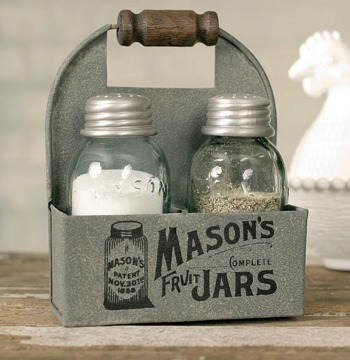 farmhouse mason jars salt and pepper shaker set mason jar