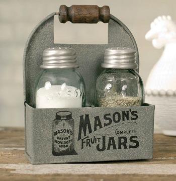 farmhouse mason jars salt and pepper shaker set mason jar
