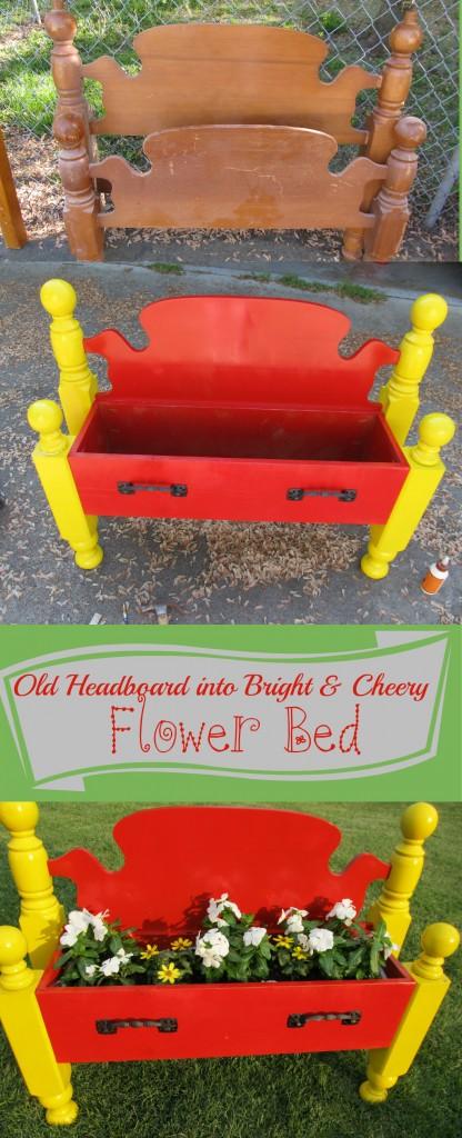 headboard flower bed