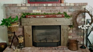 brick fireplace makeover - salvage sister and mister