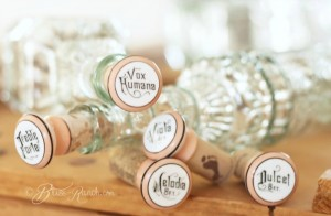 Pump organ knobs repurposed into beautiful upcycled wine bottle stoppers!