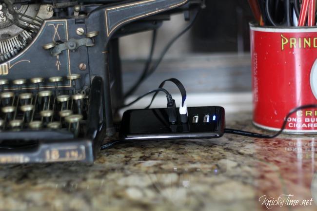 4 port usb hub charging station
