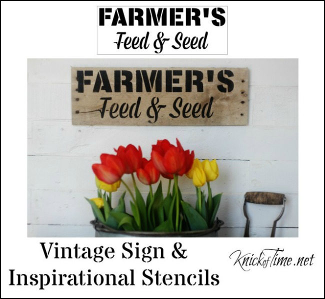 Farmers Feed and Seed stencil by Knick of Time's Vintage Sign Stencils - KnickofTime.net