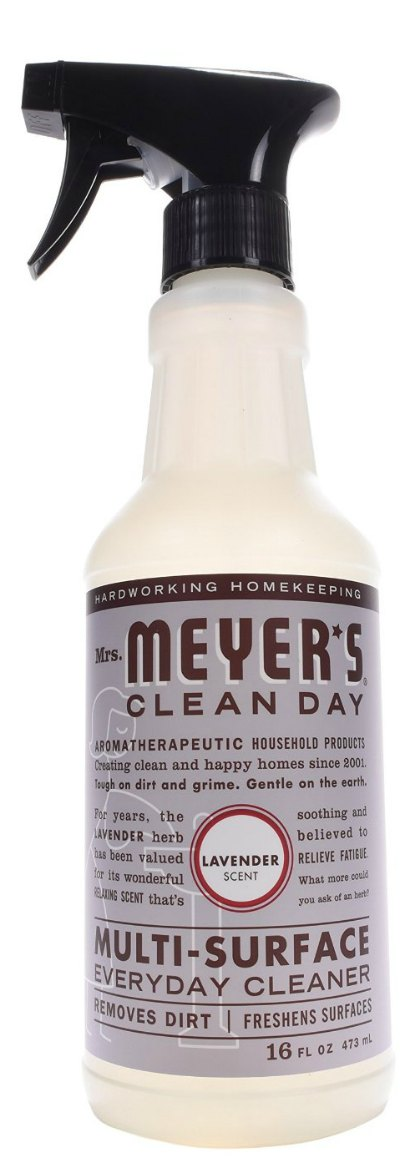 Mrs. Meyer's spring cleaning products lavender multi surface cleaner