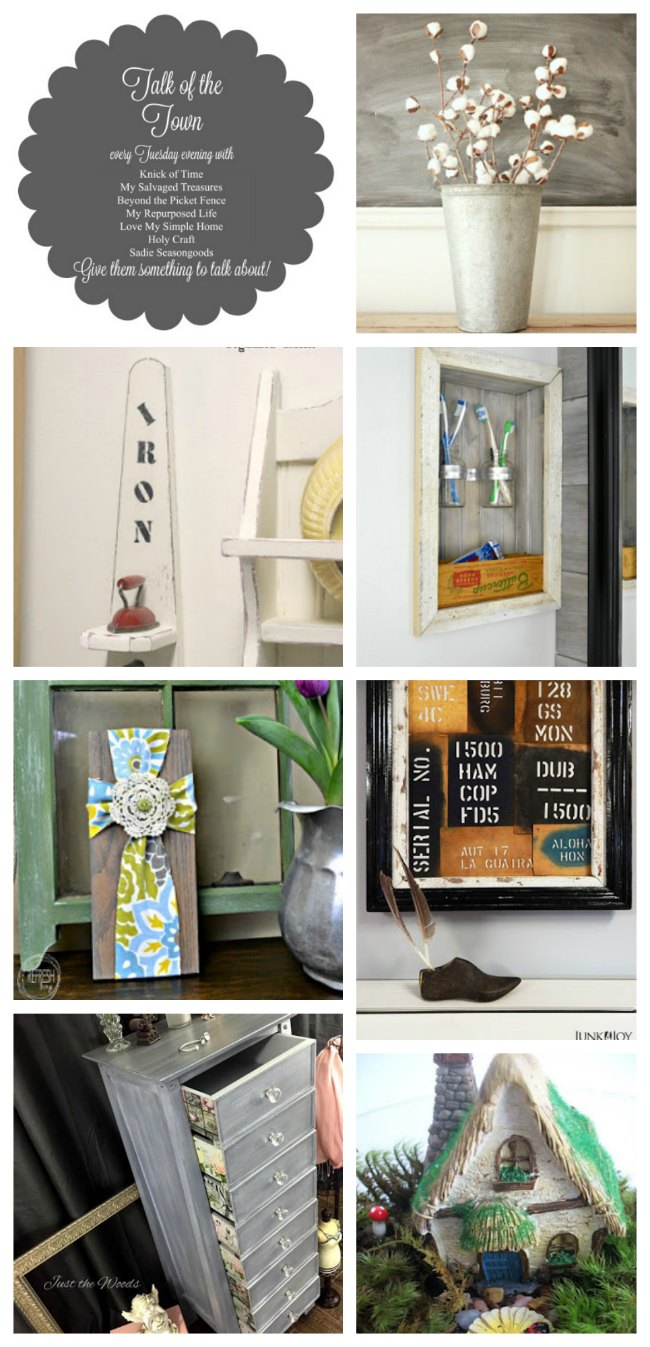 Spring Cleaning and DIY Projects Talk of the Town link party features - KnickofTime.net
