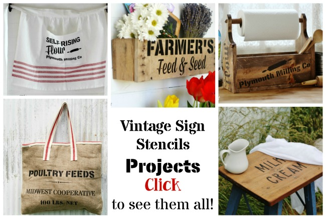 Vintage Sign Stencils Projects by Knick of Time @ KnickofTime.net