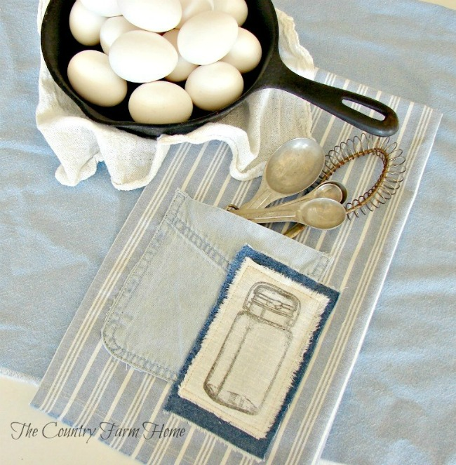 blue farmhouse dish towels
