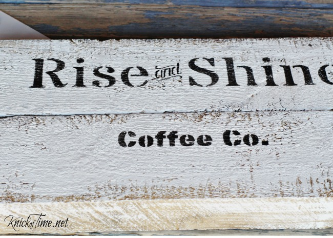 Create your own rustic handled tray for coffee lovers!- www.KnickofTime.net